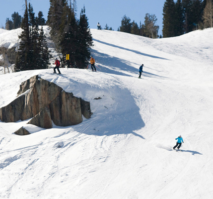 Brighton Ski Area is only 35 minutes